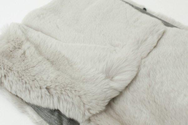 画像2: Rex Rabbit Fur Muffler (KU55R)