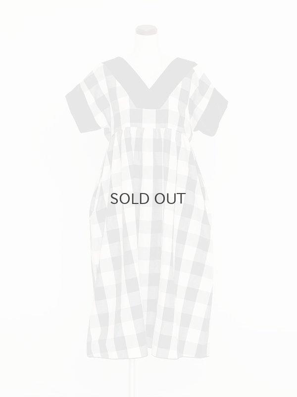 画像1: ガーデンドレス(ブラックギンガム)