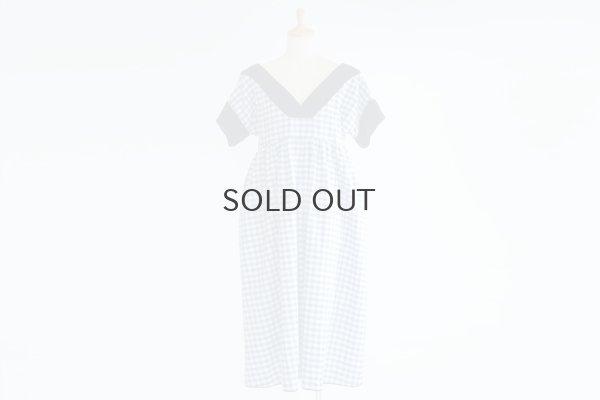 画像1: ギンガムのガーデンドレス