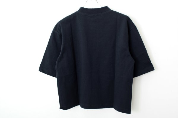 画像2: 別注!! VORTEX  MOCK NECK RIB3.5cm(NV)