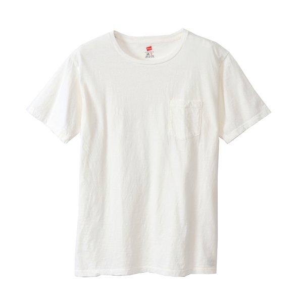 画像1: ポケット付きTシャツ(WH)