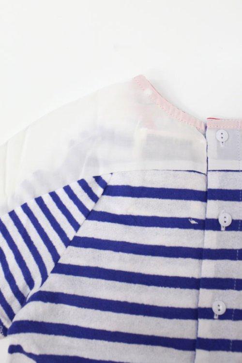 2: SALE55%OFF!! KID'S 刺繍入りボーダーTシャツ(ロブスター)