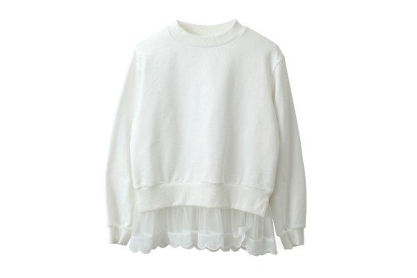 画像1: SALE30%OFF!! 別注!! 裾スカラッププルオーバー (WH)