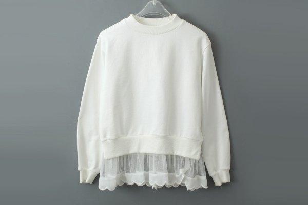 画像2: SALE30%OFF!! 別注!! 裾スカラッププルオーバー (WH)