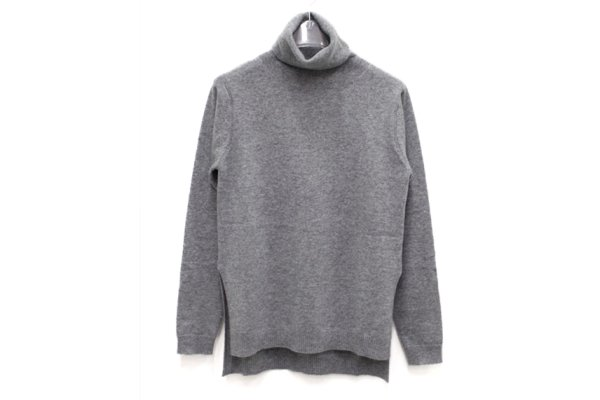 画像1: SALE40%OFF!! MILLER CASHMERE SPLIT SEAM TURTLENECK(GY)