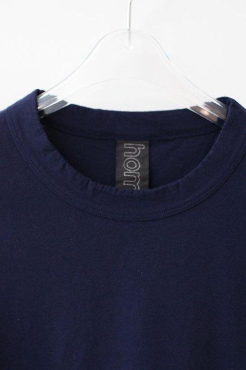1: 30/-天竺 七分袖Tシャツ(181-6450:NV)