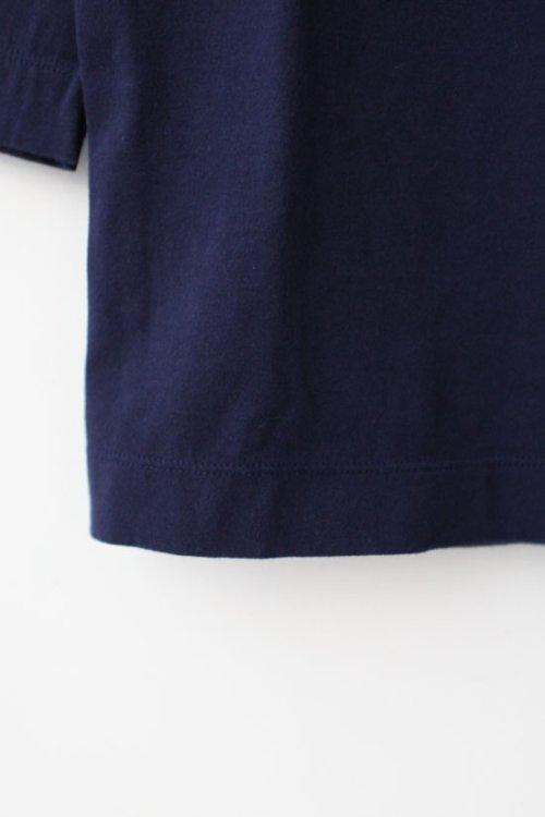 2: 30/-天竺 七分袖Tシャツ(181-6450:NV)