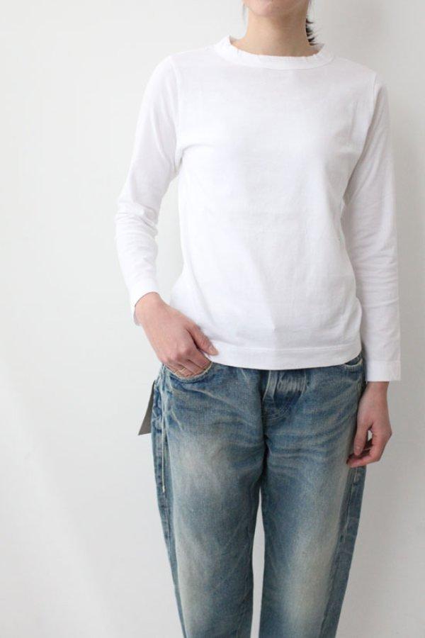 画像3: 30/-天竺 長袖Tシャツ(6616:WH)