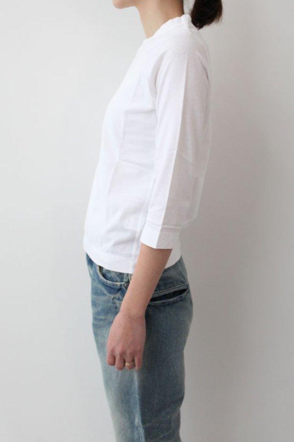 画像4: 30/-天竺 七分袖Tシャツ(181-6450:WH)