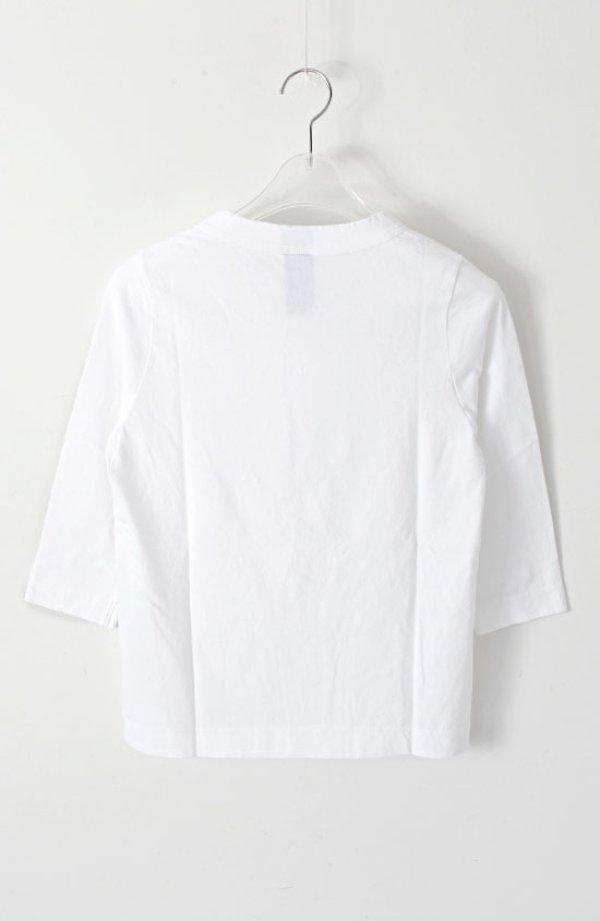 画像2: 30/-天竺 七分袖Tシャツ(6450:WH)