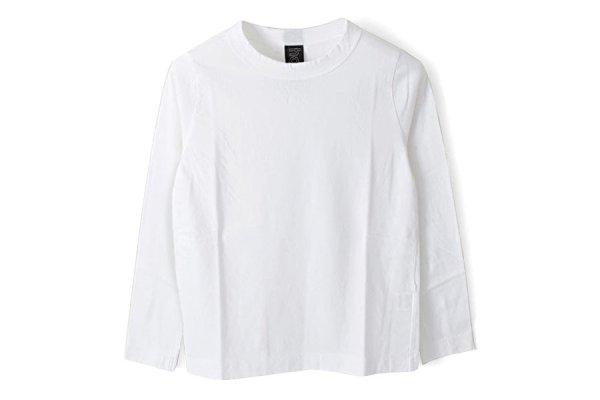 画像1: 30/-天竺 長袖Tシャツ(6616:WH)