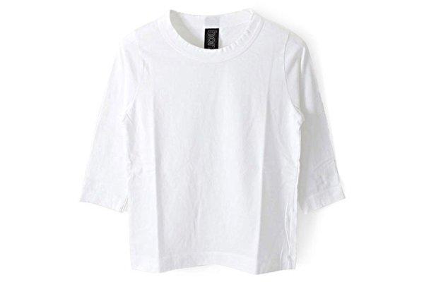 画像1: 30/-天竺 七分袖Tシャツ(6450:WH)