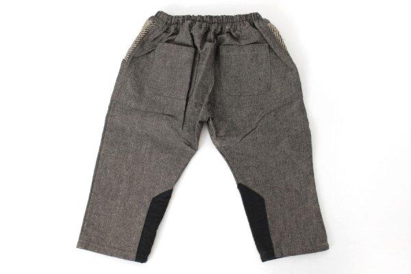 画像2: SALE40%OFF!! 子供服 ポケットヘリンボーンパンツ(BK)