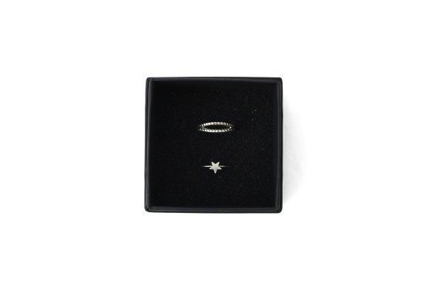 画像1: 真鍮 星モチーフ2連リング (SV)