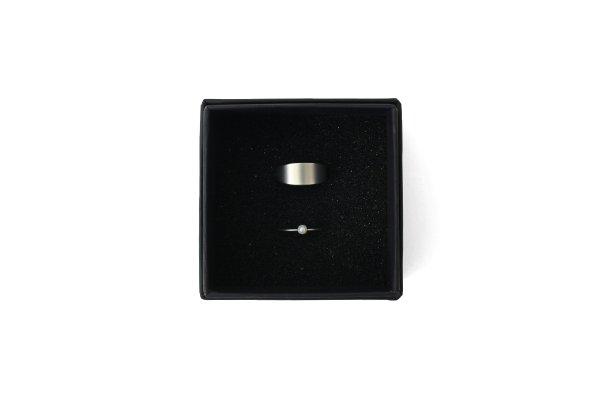 画像1: 真鍮×樹脂パール 2連リング (SV)