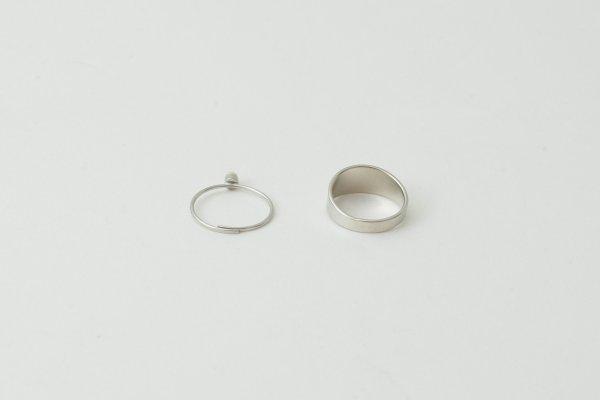 画像5: 真鍮×樹脂パール 2連リング (SV)